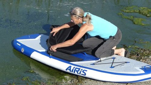 Attaching an optional seat.