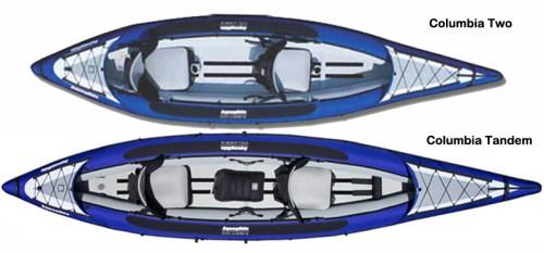 Columbia Tandem HB vs Columbia Two HB Inflatable Kayaks