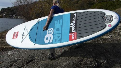 Red Air RIde 9-8 inflatable SUP is easy to carry.