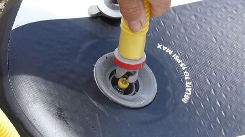 Attaching the military valve adaptor
