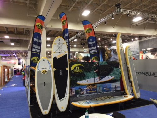 Advanced Elements booth at Outdoor Retailer show.