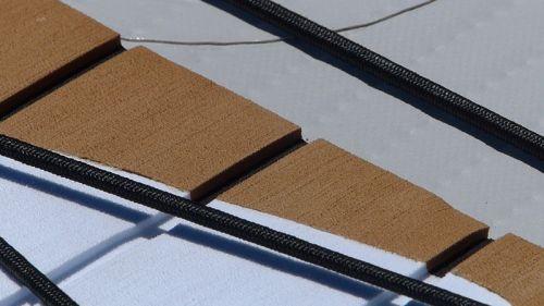 EVA deck pad with gunnels.