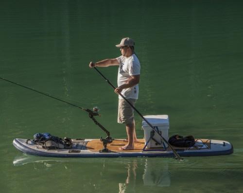 Blackfoot Angler SUP on the water