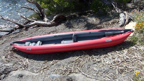 Innova Twist II LN Inflatable Kayak set up as a solo