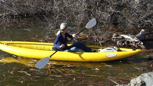 Aire Tributary Sawtooth kayak paddled solo.