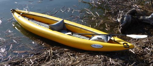 Set up for solo paddling