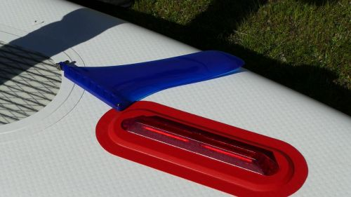 Removable 9-inch center touring fin.