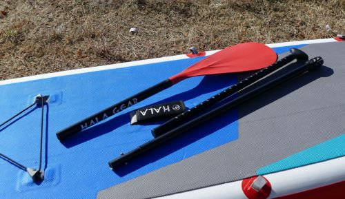 Three-piece breakdown paddle