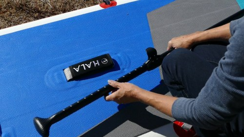 Assembling the paddle