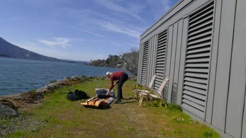Unrolling the kayak
