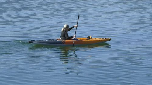Aquaglide Deschutes 100 Inflatable Kayak on the Water