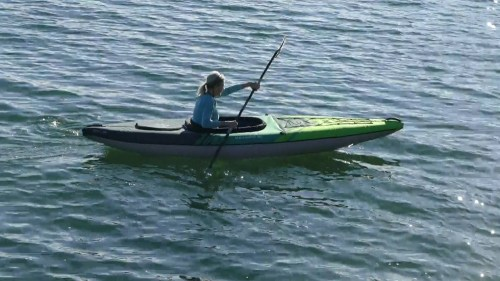 Aquaglide Navarro 110 on the water.