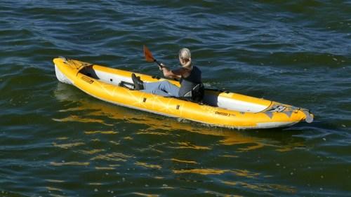 Advanced Elements StraitEdge2 Pro Inflatable Kayak - paddled solo