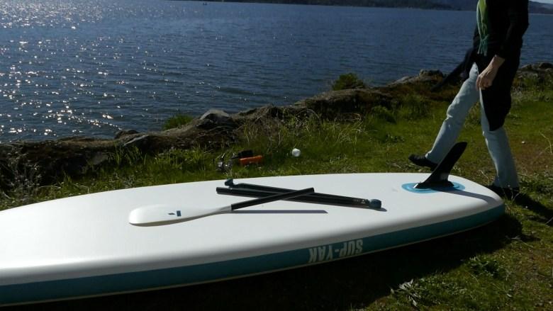 Three-piece aluminum breakdown paddle