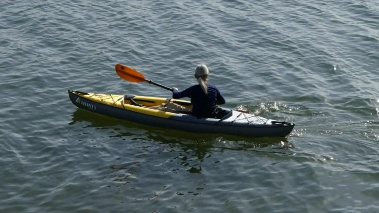 Kokopelli Moki Lite Inflatable Kayak - on the water