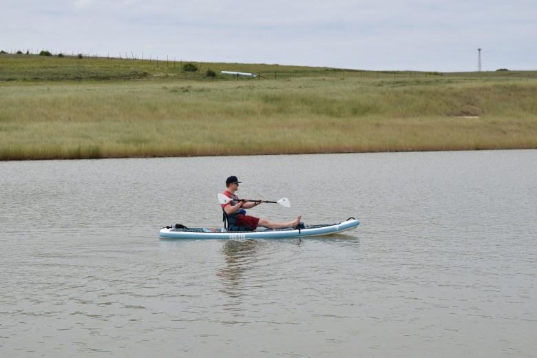 Tahe Beach 11-6 SUP-YAK in Kayak Kit version with 1 paddler
