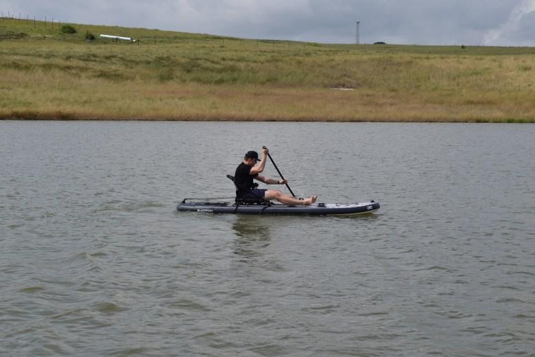 Blackfoot Angler 11 SUP in Kayak Hybrid Mode