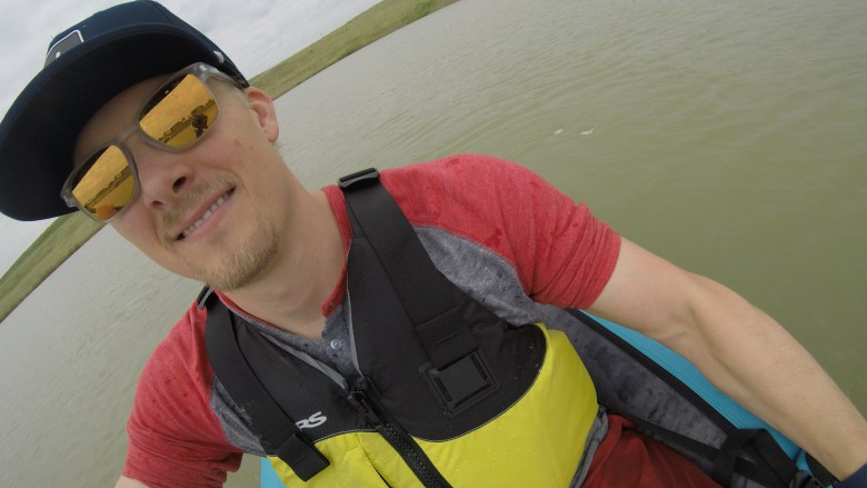 Happy Paddling on the Tahe Beach LP1 Inflatable Kayak