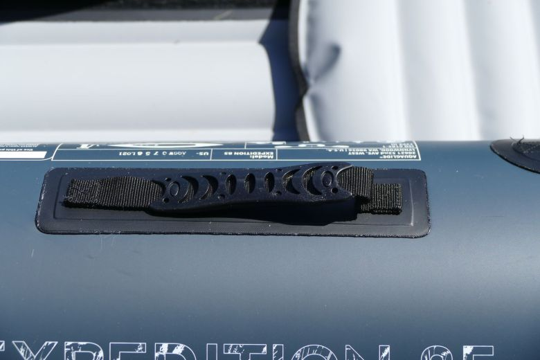 Molded low profile handles