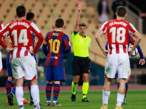 Ban Messi Supercopa Red Card