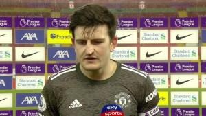 Maguire Man Utd Dressing Room Liverpool Draw