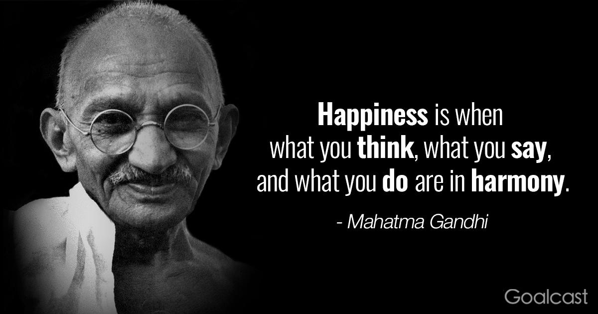 inspiring Gandhi quotes - Happiness