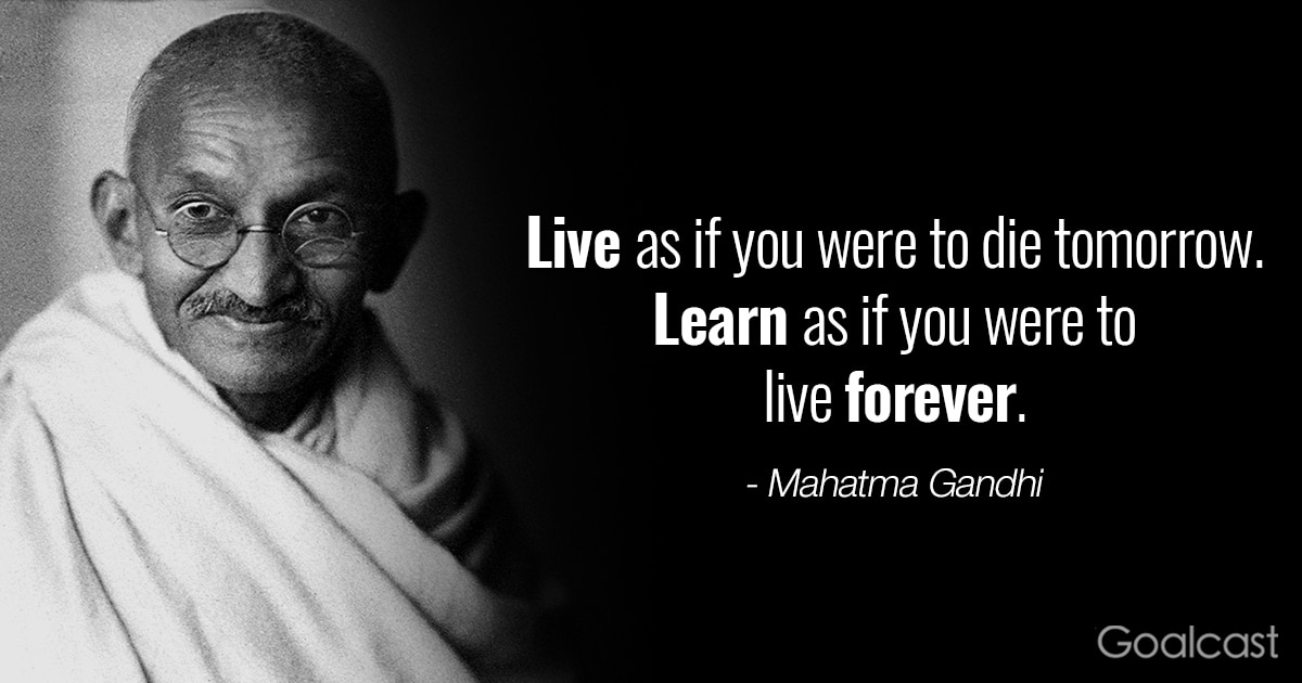 inspiring Gandhi quotes - Live learn