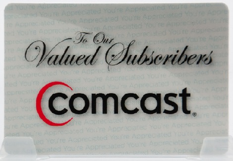 Comcast Valued Subscriber Card