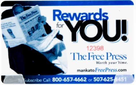 Rewards for You at Mankato Free Press