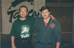 Hatsumi Sensei, our Grandmaster and Me.