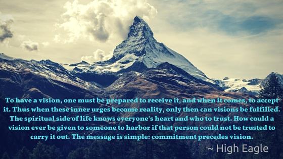 High Eagle - Commitment precedes Vision