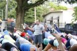 Ken Heptig GoalYoga teaching at Yoga on Tap