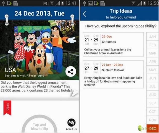 Trip Ideas App