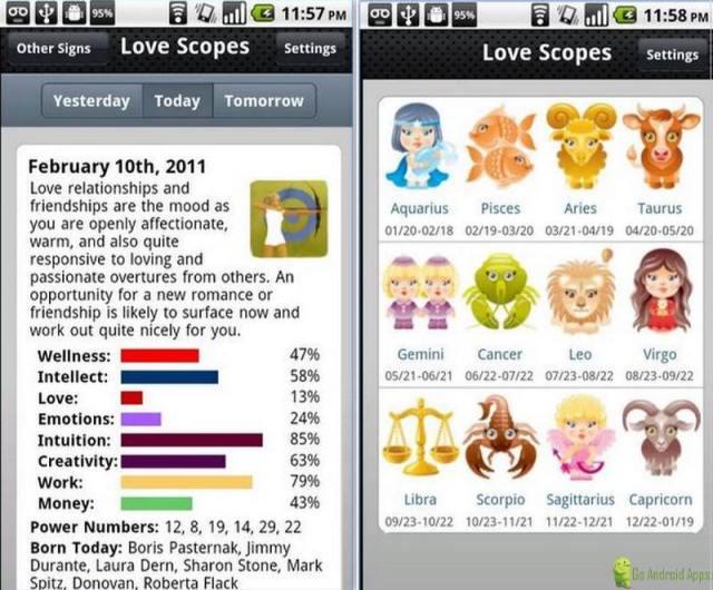 Love Horoscopes App