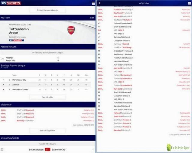 Sky Sports Live Football SC App