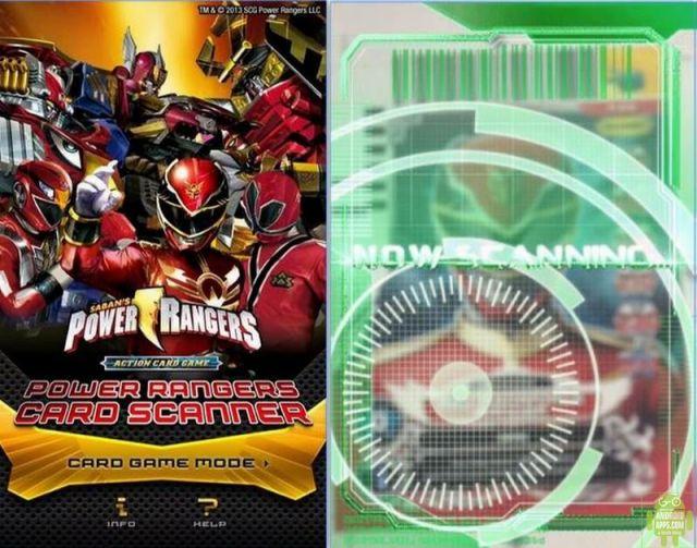 POWER RANGERS CARD SCANNER App