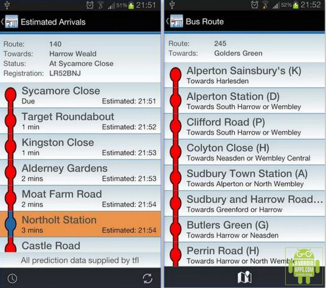 Live London Bus Tracker App