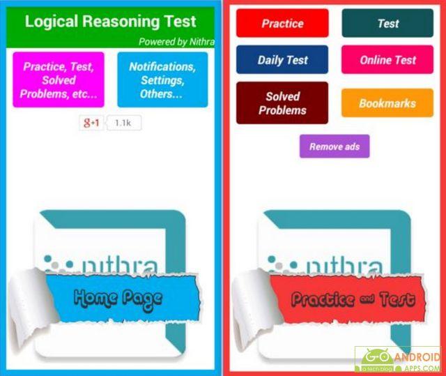 Logical Reasoning Test App