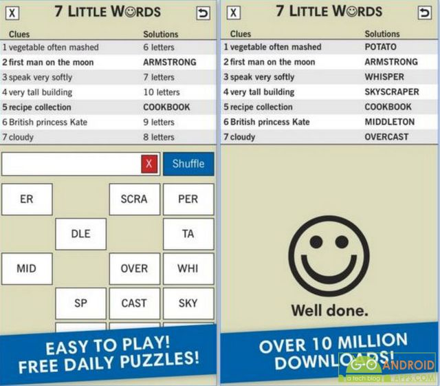 7 Little Words Game