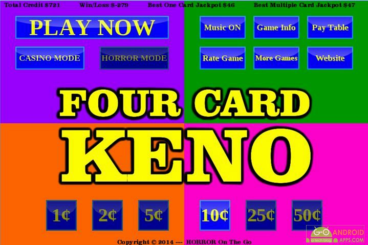Four card keno app
