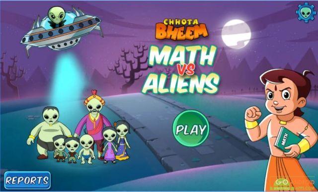 Chotta Bheem Maths vs Aliens Game