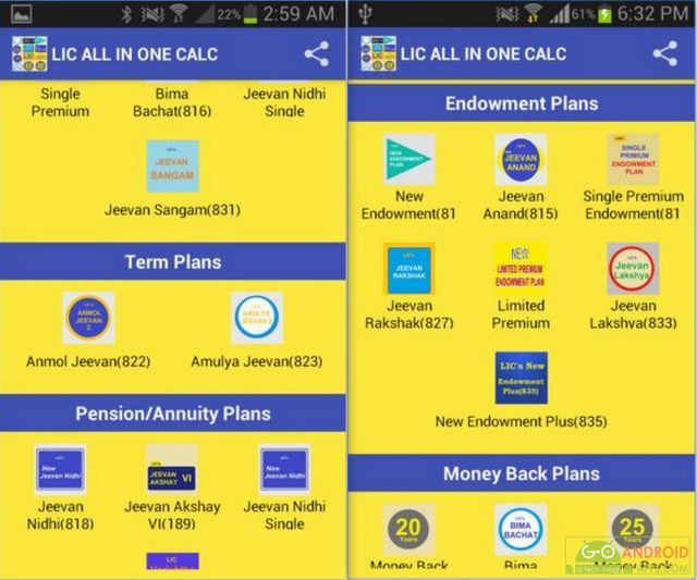 LIC ALL IN ONE CALC APP