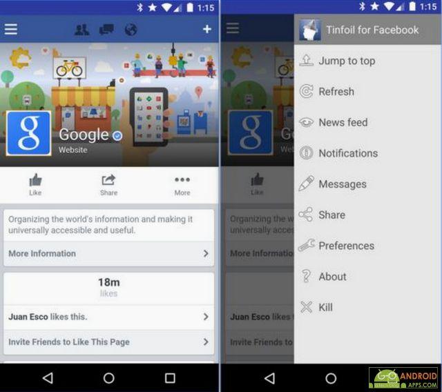 Tinfoil for Facebook App