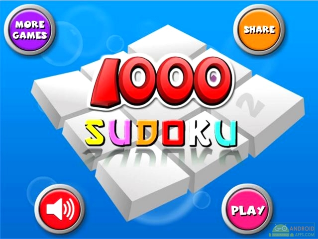 1000 Sudoku Pro Game, Sudoku Games for Android