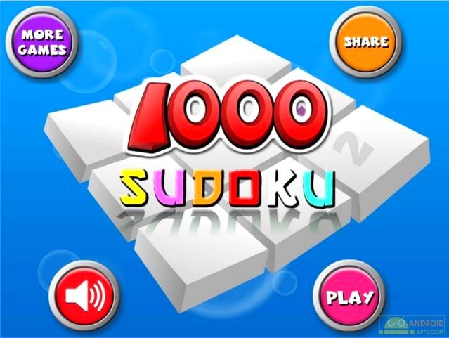 1000 Sudoku Pro Game