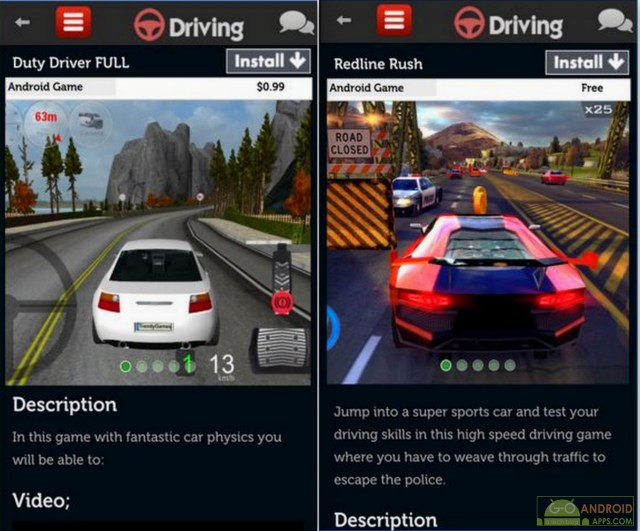 Driving Games for Android