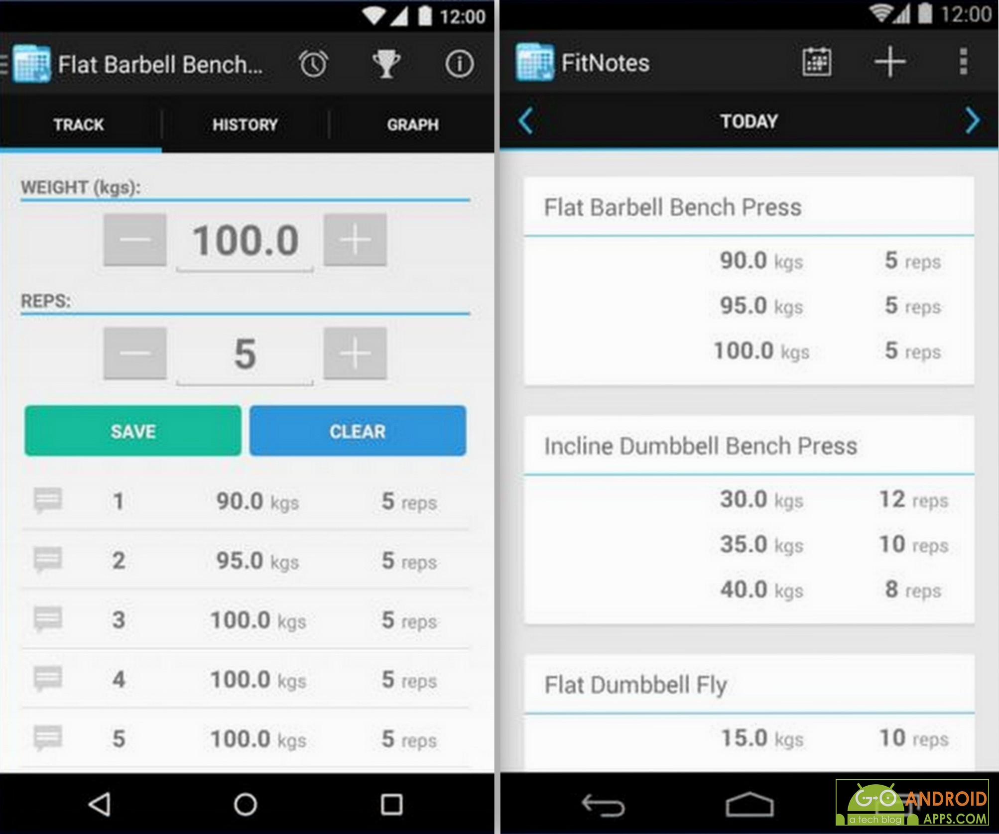 Workout Calendar App : The best fitness and health tracking apps for android go