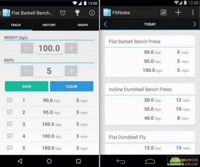 FirNotes - Gym Workout Log App, Fitness and Health Tracking Apps for Android