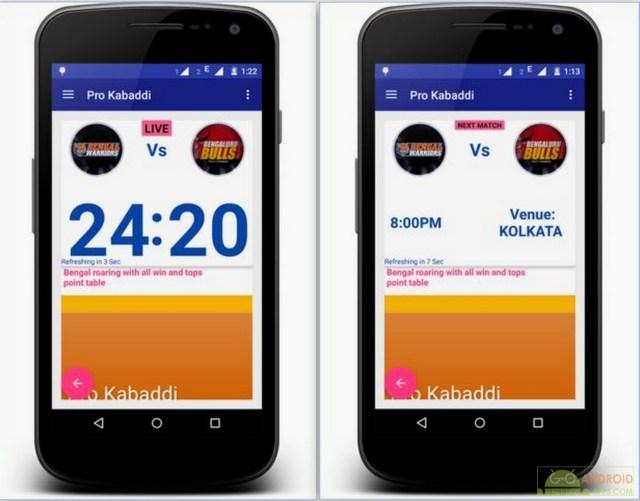 Pro Kabaddi App