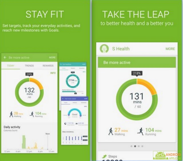 S Health App, Fitness and Health Tracking Apps for Android